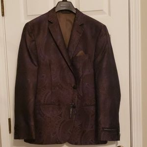 Men's Brown and Purple Paisley Sportscoat